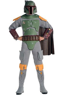 Brand New Star Wars Deluxe Boba Fett Adult Costume - Boba Fett Adult Costume