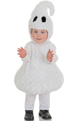 Adorable Friendly Ghost Plush Outfit Toddler Halloween Costume - Toddler Ghost Halloween Costumes