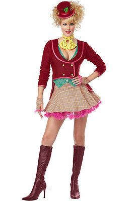 Mad Hatter Alice in Wonderland Adult Women Costume - Mad Hatter Woman Costume
