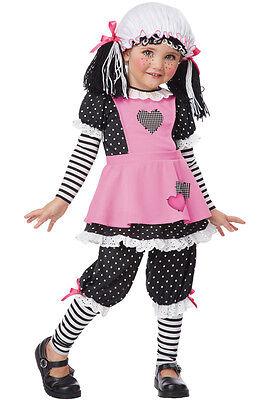 Rag Dolly Raggedy Ann Toddler Costume - Pink Rag Doll Costume