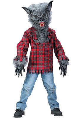 Brand New Werewolf Child Costume (Grey) - Grey Werewolf Costume