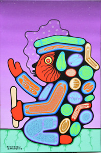 Original Woodland Style Painting -  Native Art - Brent Hardisty