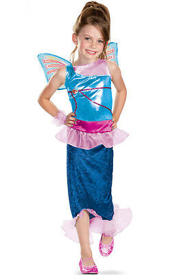 Bloom Mermaid Winx Club Blue Fairy Pixie Fancy Dress Up Halloween Child Costume - Blue Fairy Halloween Costume