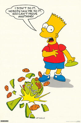 - POSTER :TV:ANIMATION:  BART SIMPSON - COOKIES - FREE SHIPPING ! #159  RP61 K