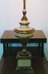 HEAVY Vintage CLASSICAL Table Lamp BRASS Antique