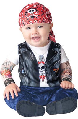 Brand New Born to be Wild Biker Jumpsuit Infant/Toddler Halloween Costume