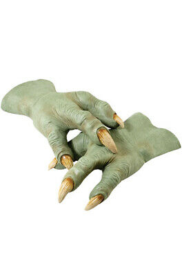 Brand New Star Wars Yoda Adult Latex Hands Costume Accessory