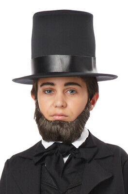 Brand New Child Honest Abe Abraham Lincoln Beard (Dark Brown)