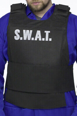 S.W.A.T. Vest Adult Halloween Costume - Mens Halloween Swat Vest