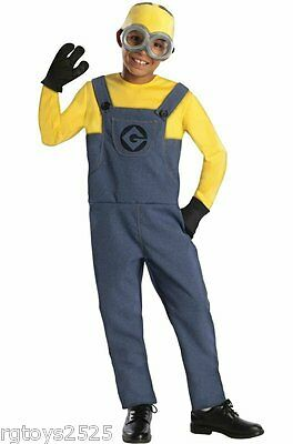 Despicable Me 2 MINION DAVE Costume Size 8 M New Childs Halloween 7 8 Medium - Despicable Me 2 Minion Halloween Costumes