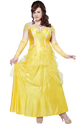 Classic Beauty and the Beast Princess Belle Women Costume Plus Size (Plus Size Princess Belle Costume)