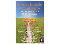 Psychic holistic craft fayre 8th July Shillingstone
