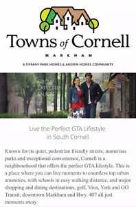 Towns of Cornell in Markham VVIP Sigining This SATURDAY