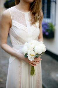 BCBG Avi Pleated Gown - Size 8