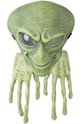 Brand New UFO Alien Mask and Hands (Green) - Aliens Mask