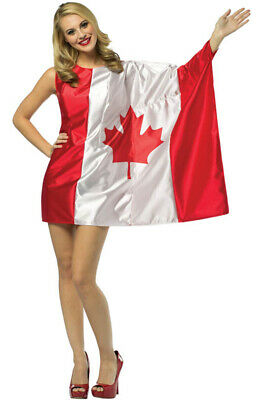 Adult Costumes Canada (Brand New Canada Flag Dress Pride Adult)