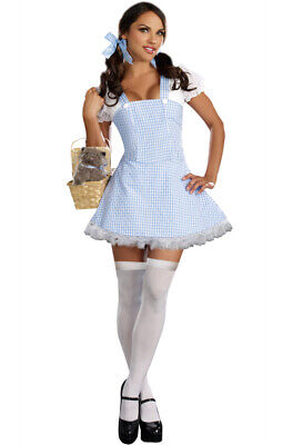 Brand New Blue Gingham Dress Dorothy Wizard of Oz Adult Halloween Costume - Dorothy Wizard Oz Halloween Costume