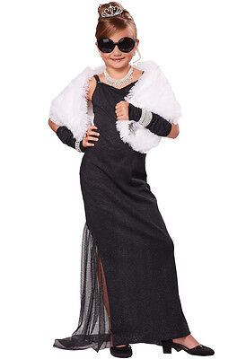Hollywood Diva Breakfast at Tiffany's Movie Star Child Costume](Kids Hollywood Costumes)