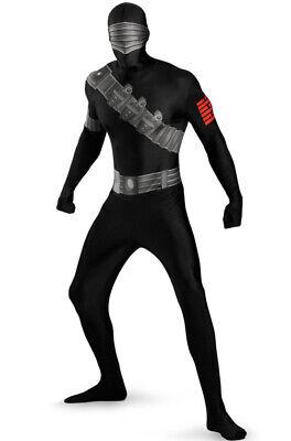 G.I. Joe Skinovations Snake Eyes Bodysuit Skin Suit  Zentai Adult  Costume