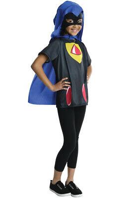Brand New Teen Titans Superhero Raven Child Costume - Raven Titanen Kostüm