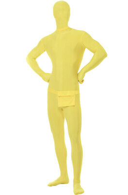 Second Skin Suit Adult Costume (Yellow) - Second Skins Costumes