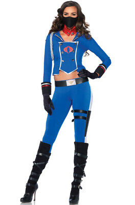 Gi Joe Costume (Official License Women GI Joe Cobra Girl Jumpsuit Adult)