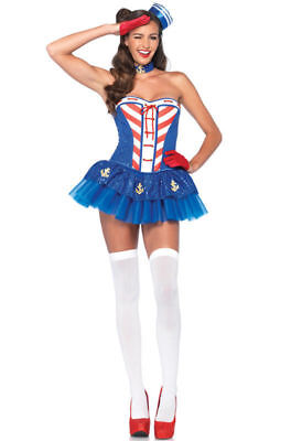 Starboard Sweetie Sexy Sailor 4th of July Adult Costume (E)