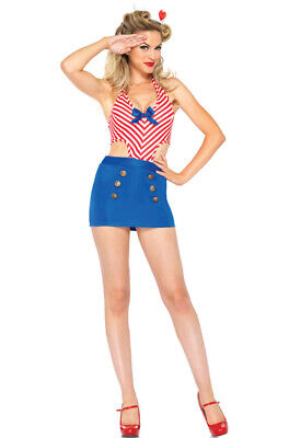 Shore Leave Sailor Pin-Up Girl Outfit Adult Costume
