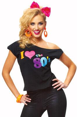 Brand New Womens I Love The 80's T-Shirt Halloween Costume](80 Costumes)