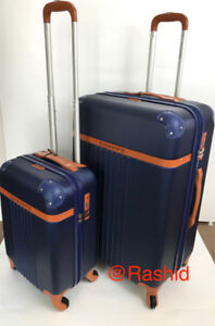 New navy Expandable TSA luggage set suitcases Luggage set of 2