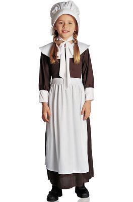 Colonial Pilgrim Girl Child Halloween Costume