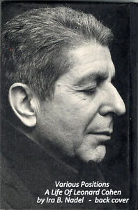 Various Positions – a life of Leonard Cohen by Ira Nadel
