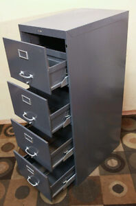 LOCKING Excellent Cole 4 Drawer Legal Filing Cabinet SEE VIDEO
