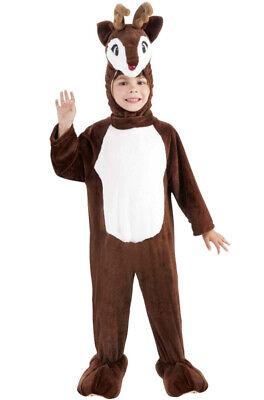 Brand New Plush Santa Reindeer Child Costume (S)](Make Reindeer Costume)