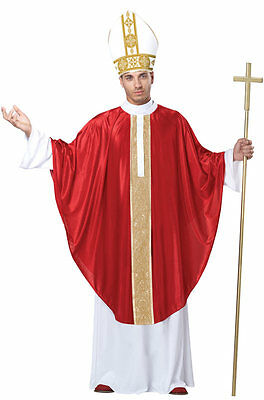 The Holy Pope Catholic Church Priest Father Bishop Adult Men Costume - Catholic Priest Costume