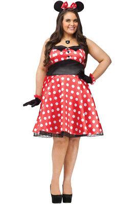 Plus Size Minnie Mouse Dress (Brand New Retro Miss Minnie Mouse Plus Size)