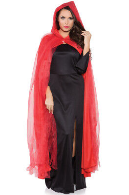 Red Riding Hood Cloak (Red Riding Hood Adult Tattered Ghost Cape Cloak Costume)