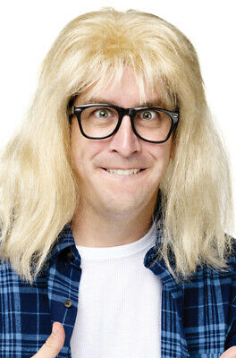 SNL Garth Algar Costume Wig and Glasses Wayne World (Waynes World Garth Wig)