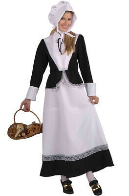 Brand New Colonial Pilgrim Woman Outfit Adult Costume - Colonial Outfits