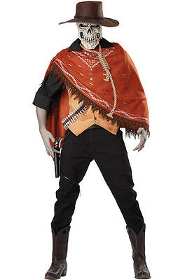 Outlaw's Revenge Cowboy Skull Adult Costume (Cowboy Adult Costume)
