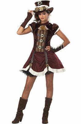 Brand New Steampunk Girl Tween Halloween Costume](Tween Steampunk Costume)