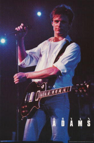 POSTER : MUSIC : BRYAN ADAMS - IN CONCERT -   FREE SHIPPING !  #NMPO8  RBW3 F