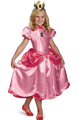 Brand New Super Mario Brothers Princess Peach Deluxe Child Costume - Deluxe Princess Peach Costume