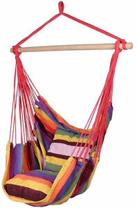 Deluxe Hanging Rope Chair Outdoor Porch Swing Yard Tree Hammock