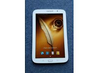 Samsung Note 8.0 tablet wifi and cellular 3g/4g GT-N5100 as new with genuine samsung smart cover