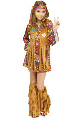 Peace And Love Hippie Costume (Brand New Peace and Love Hippie Child)