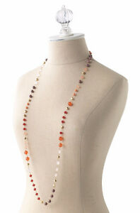 Stella & Dot 'Aileen' Necklace (Reds, Oranges, Corals) London Ontario image 1