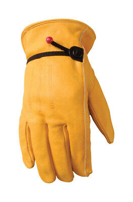 Wells Lamont Premium Cowhide Leather Work Gloves M Draw String Brand New