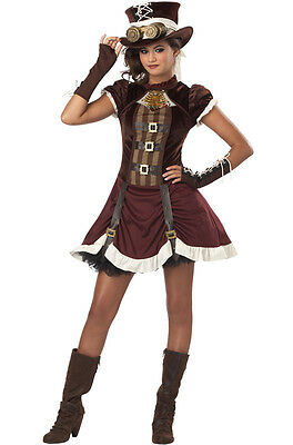 Steampunk Girl Tween Halloween Costume](Tween Steampunk Costume)