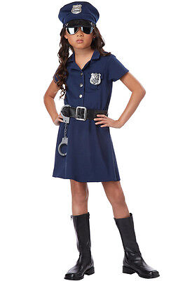Girl Police Costume (Police Officer Girl Patrol Cop Dress Child)